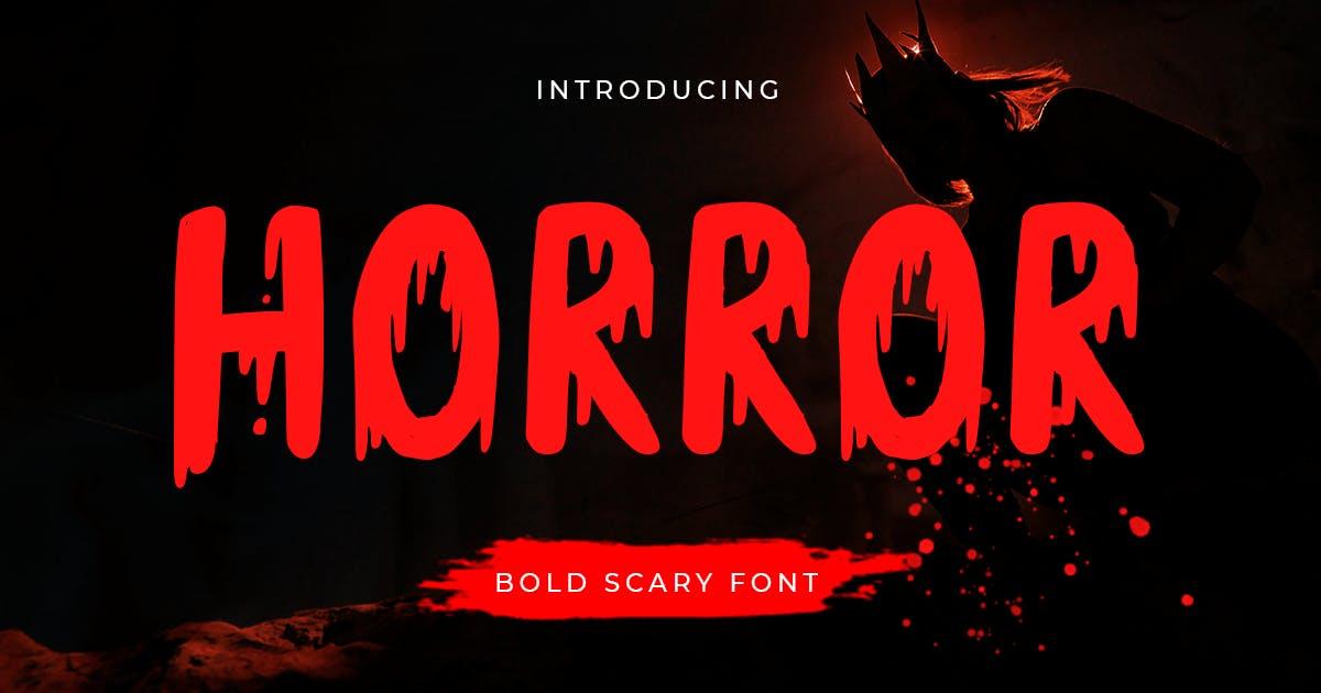 Horror - Bold Scary Font by HamzStudio