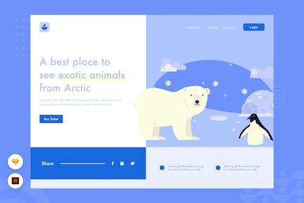 exotisches Tier - Website Header Illustration