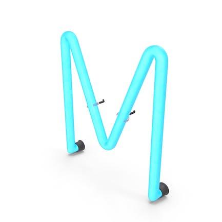 Neonbuchstabe M