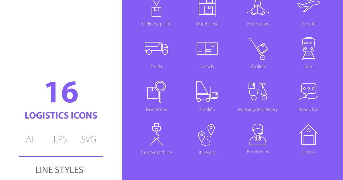 Download Logistic Icon Line Styles by Richard_2010