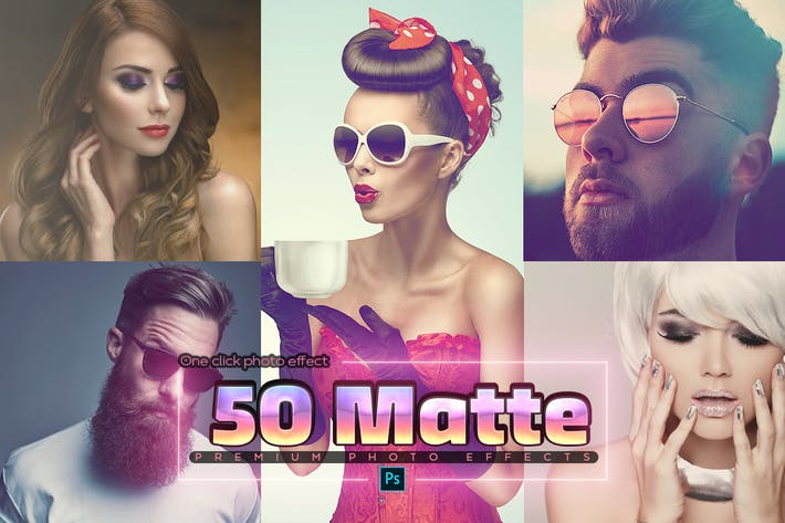 Thumbnail for 50 Matte Photoshop Actions
