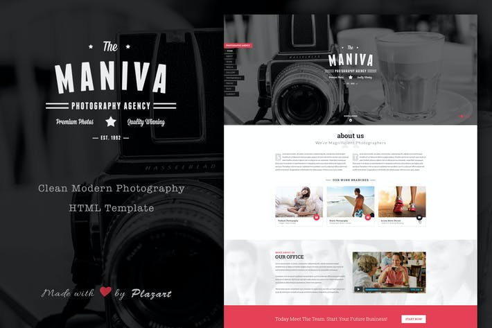Thumbnail for Photography Agency - HTML Template