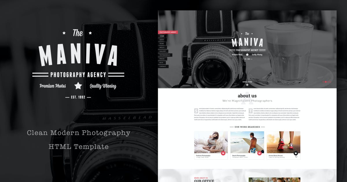 Photography Agency - HTML Template by plazart