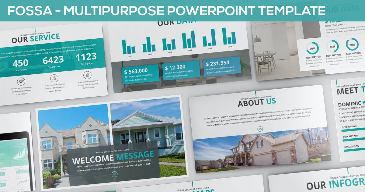 Download Fossa - Multipurpose Powerpoint Template by SlideFactory
