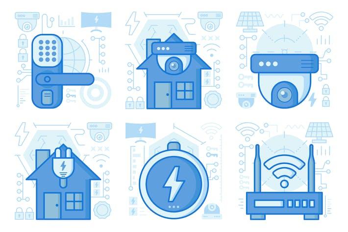 Thumbnail for Home Surveillance UI UX Illustrations