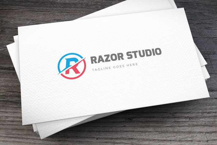 Thumbnail for Razor Studio Letter R Logo Template