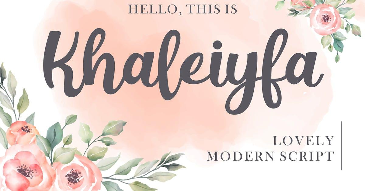 Download Khaleiyfa - Lovely Script by deemakdaksinas