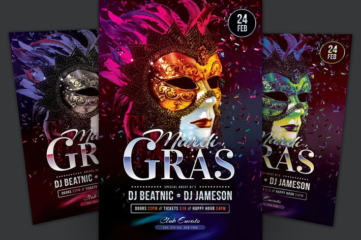 Thumbnail for Mardi Gras Flyer