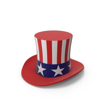 Stove Pipe United States Flag Hat