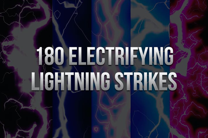 Cover Image For 180 Electrifying Lightning Strikes
