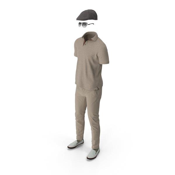 Thumbnail for Men's Polo Pants Shoes Hat Sunglasses