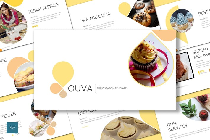 Thumbnail for Ouva - Шаблон Keynote хлебобулочных изделий