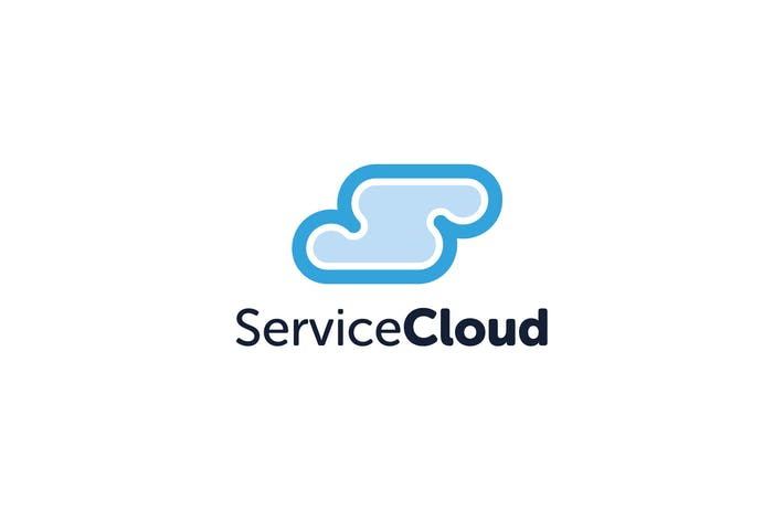 Cover Image For Service Cloud S Letter Logo Template