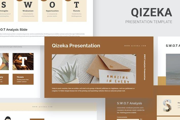Thumbnail for Qizeka : SWOT Analysis Google Slides