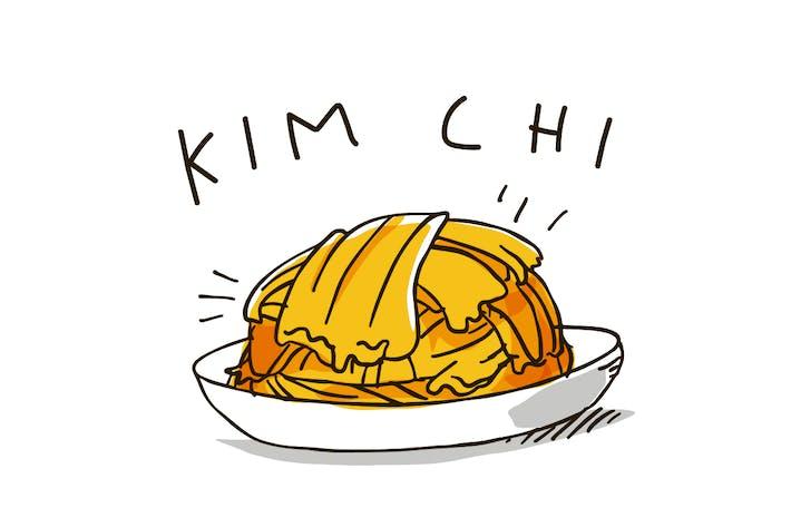 Kimchi berühmte gesunde koreanische Küche