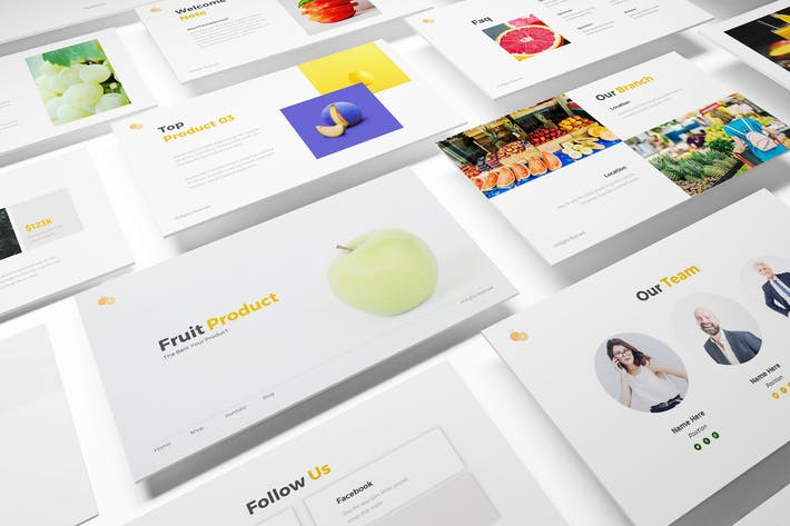 Thumbnail for Fruit Store Keynote Template