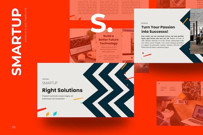 Thumbnail for Smartup - Startup  Google Slides Templates