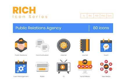80 PR-Agentur-Symbole - Rich Series