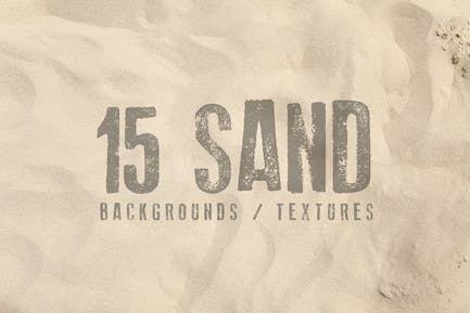15 Sand Backgrounds / Textures
