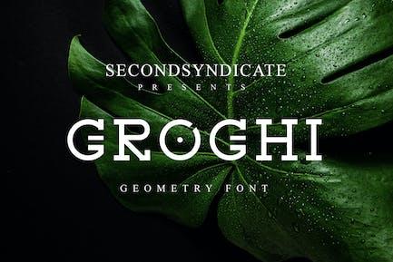 Groghi - geometry font