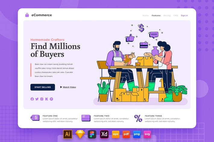 Thumbnail for Landing Page V.22 Ecommerce - Sell Homemade Craft