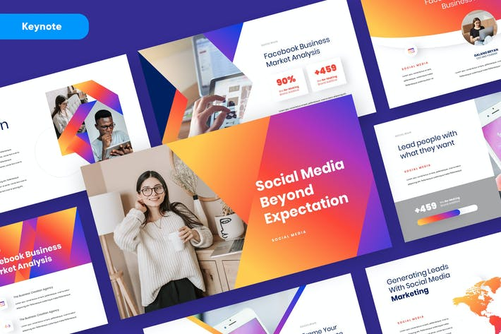 SOCIO - Social Media Marketing Keynote Template