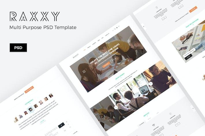Raxxy – Artistic Portfolio PSD Template