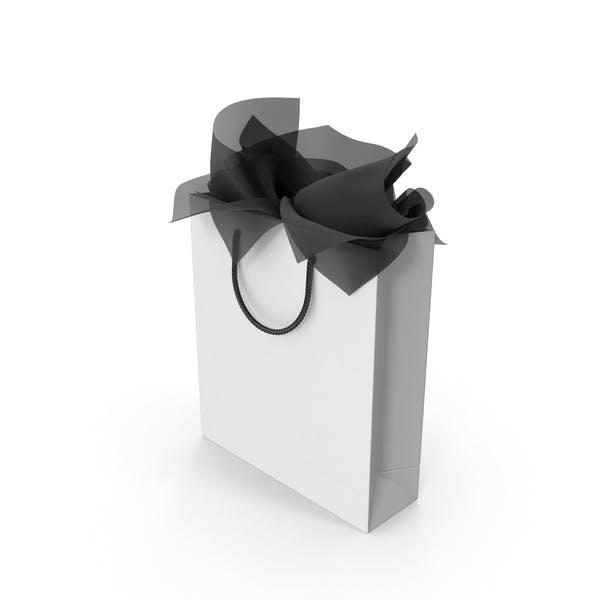 Сумка для покупок с черной подарочной бумагой