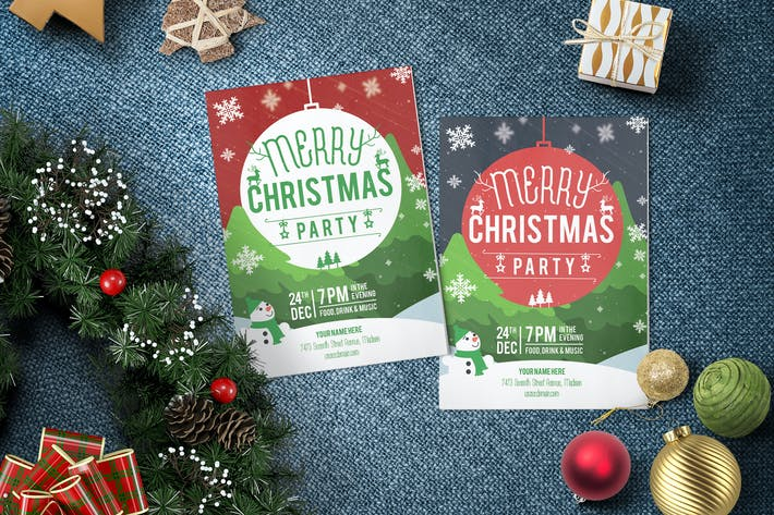 Thumbnail for Christmas Party Flyer and Invitation Template 02