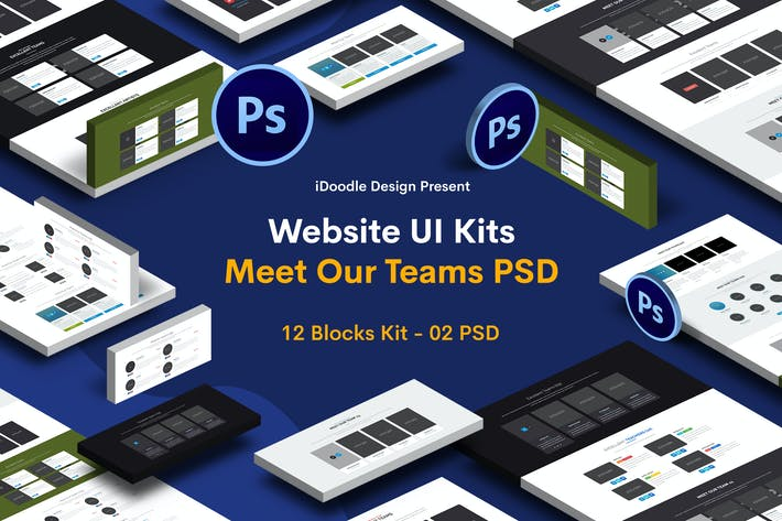 Thumbnail for Website UI Kits Meet Our Teams