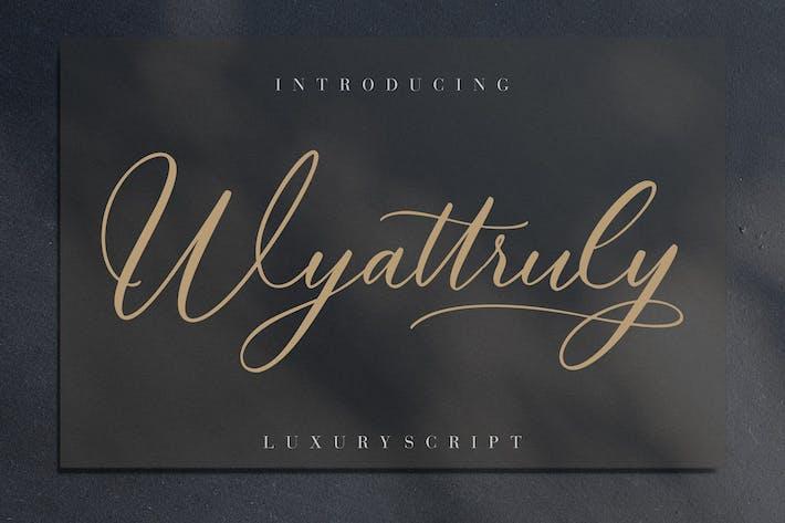 Wyattruly Luxe Script