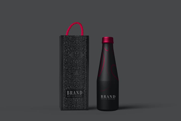 Thumbnail for Metal Bottle Package Mockup