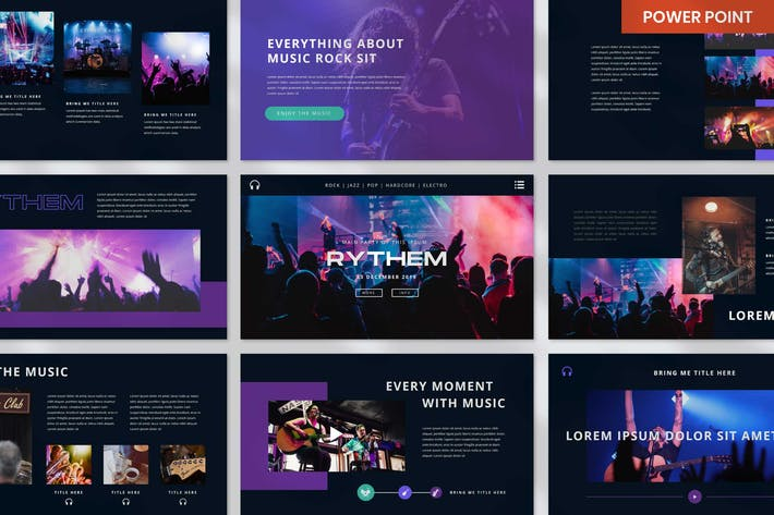 Rythem Music Event - PowerPoint Template