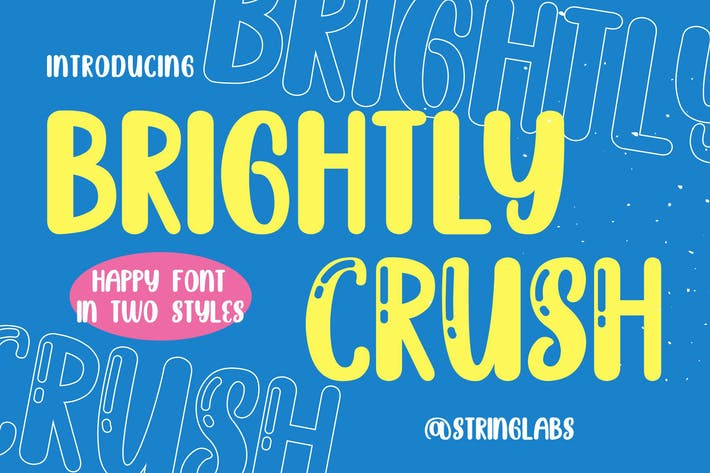 Thumbnail for Brightly Crush - Playful Typeface