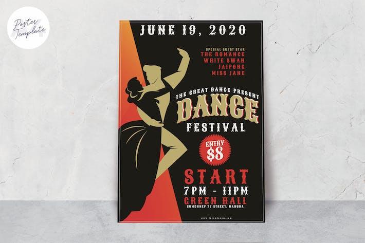 Thumbnail for Dance Festival Poster Template