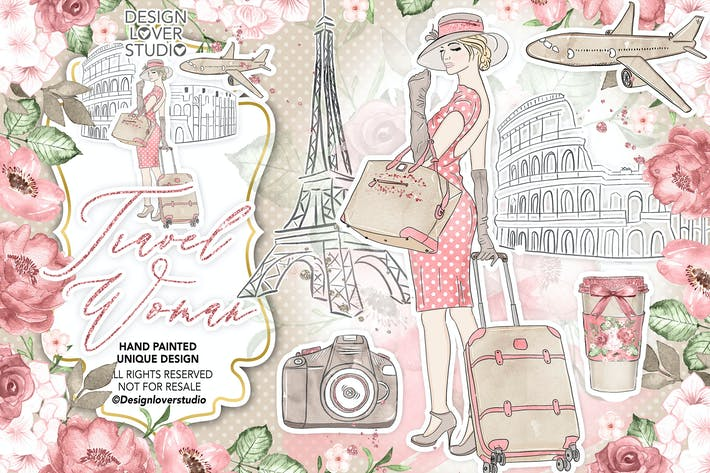 Cover Image For Travel woman design