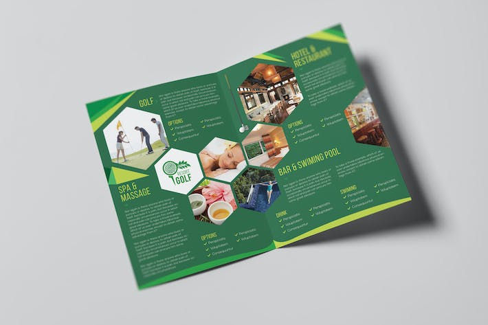 Thumbnail for Golf Resort/ A5 Brochure Template