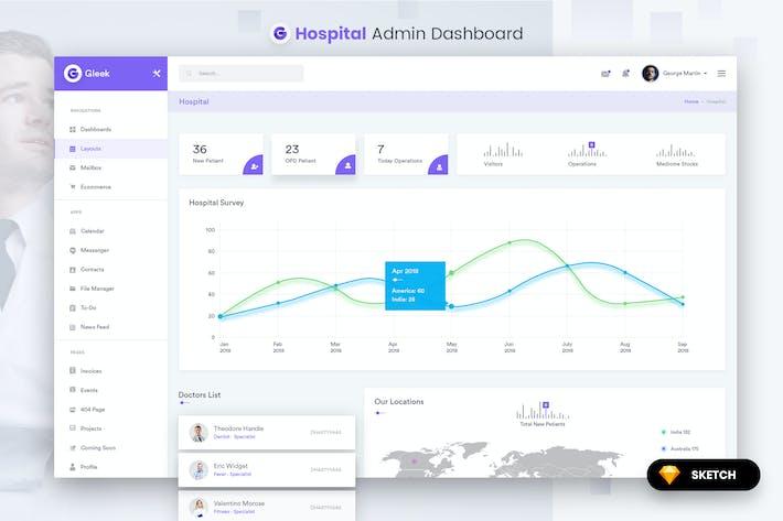 Thumbnail for Hospital Admin Dashboard UI Kit (SKETCH)