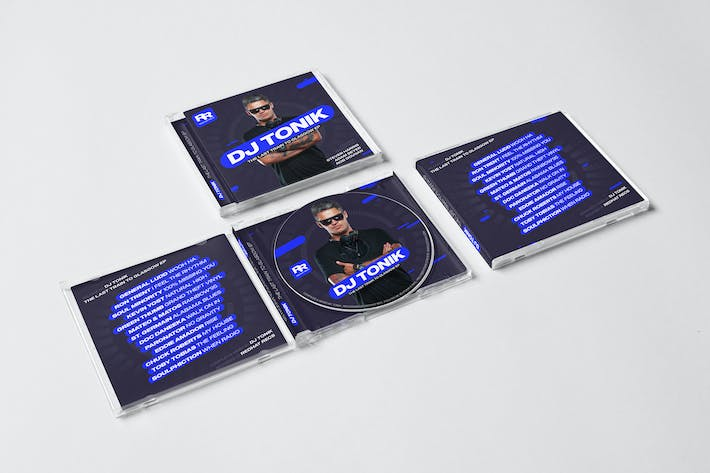 Thumbnail for Modern DJ Mix / Album CD Cover Artwork Template