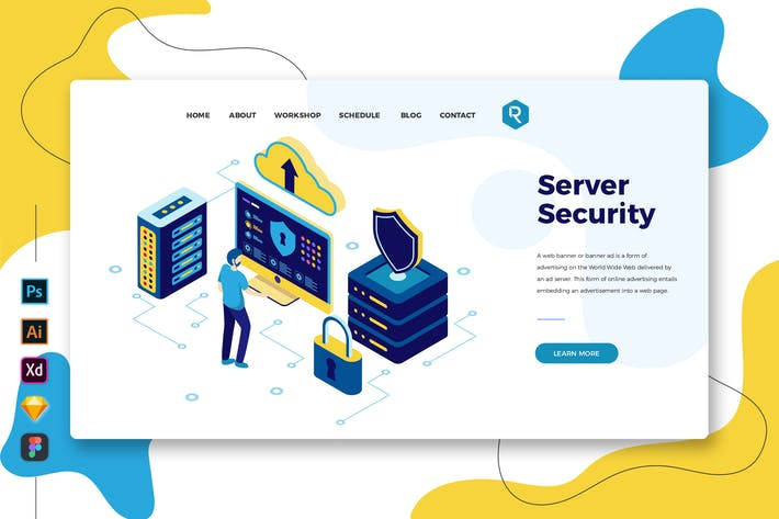 Thumbnail for Server Security - Web & Mobile Landing Page