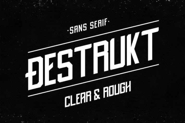 Thumbnail for Destrukt - Sans Serif Font