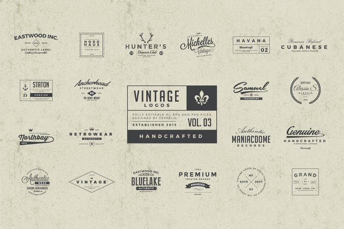 Thumbnail for 25 Vintage Logos