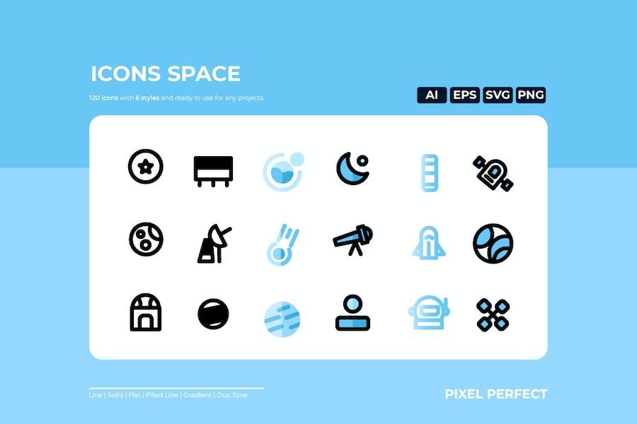 Space Icon - 6 Stile