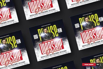 Praise, Worship Flyer