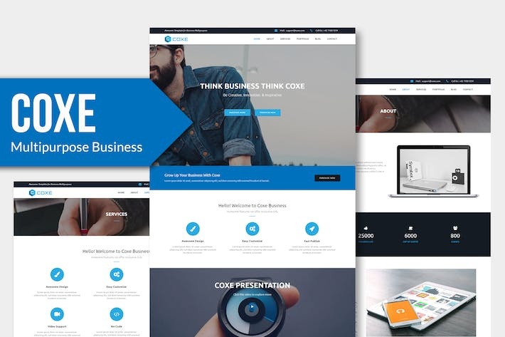 Thumbnail for COXE - Corporate Multipurpose Muse Template