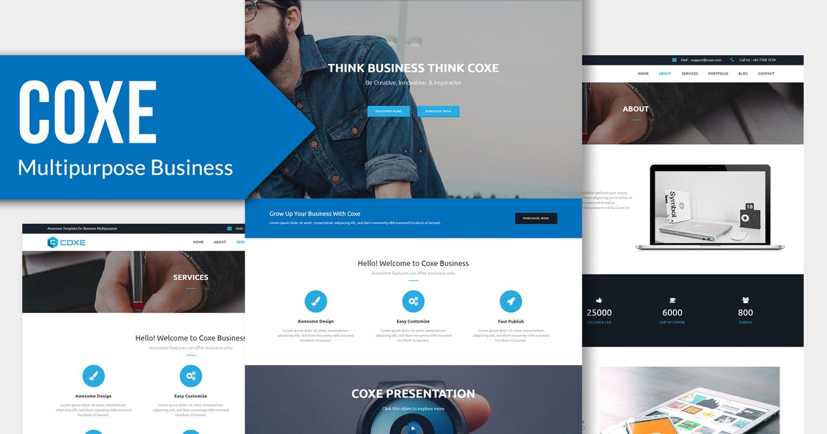 Download COXE - Corporate Multipurpose Muse Template YR by Rometheme