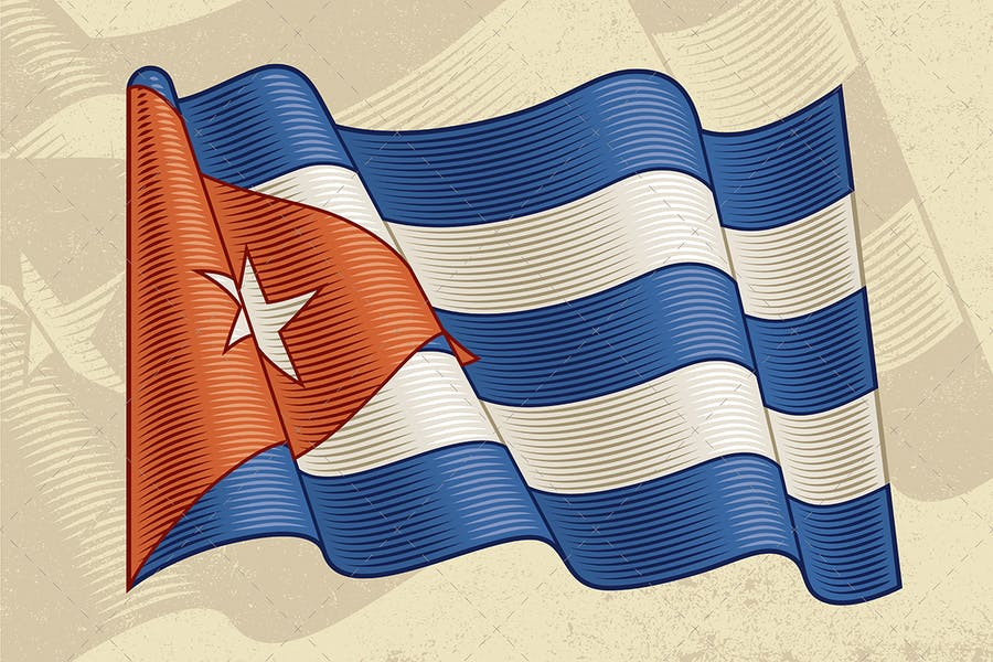 Vintage Flag Of Cuba