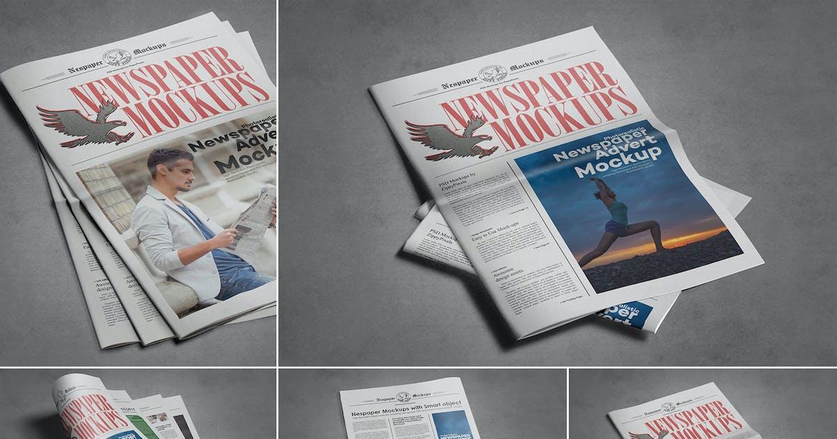 Download Vintage Newspaper Mockups by zippypixels