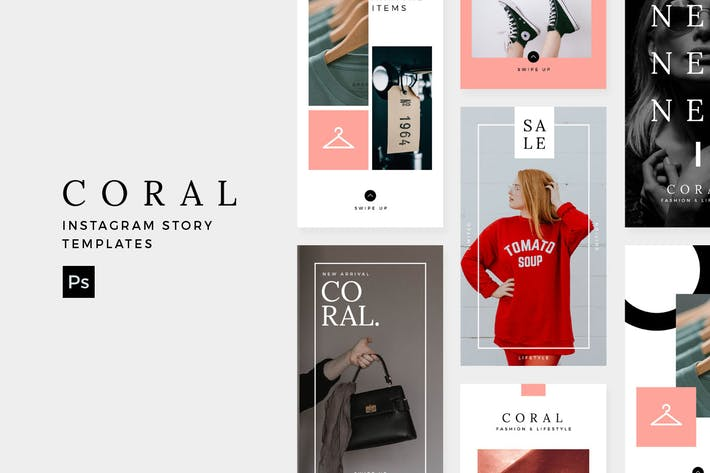 Thumbnail for Coral - Instagram Story Modèle