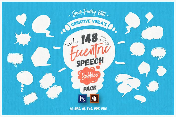 Cover Image For Eccentric Speech Bubbles Vector Pack